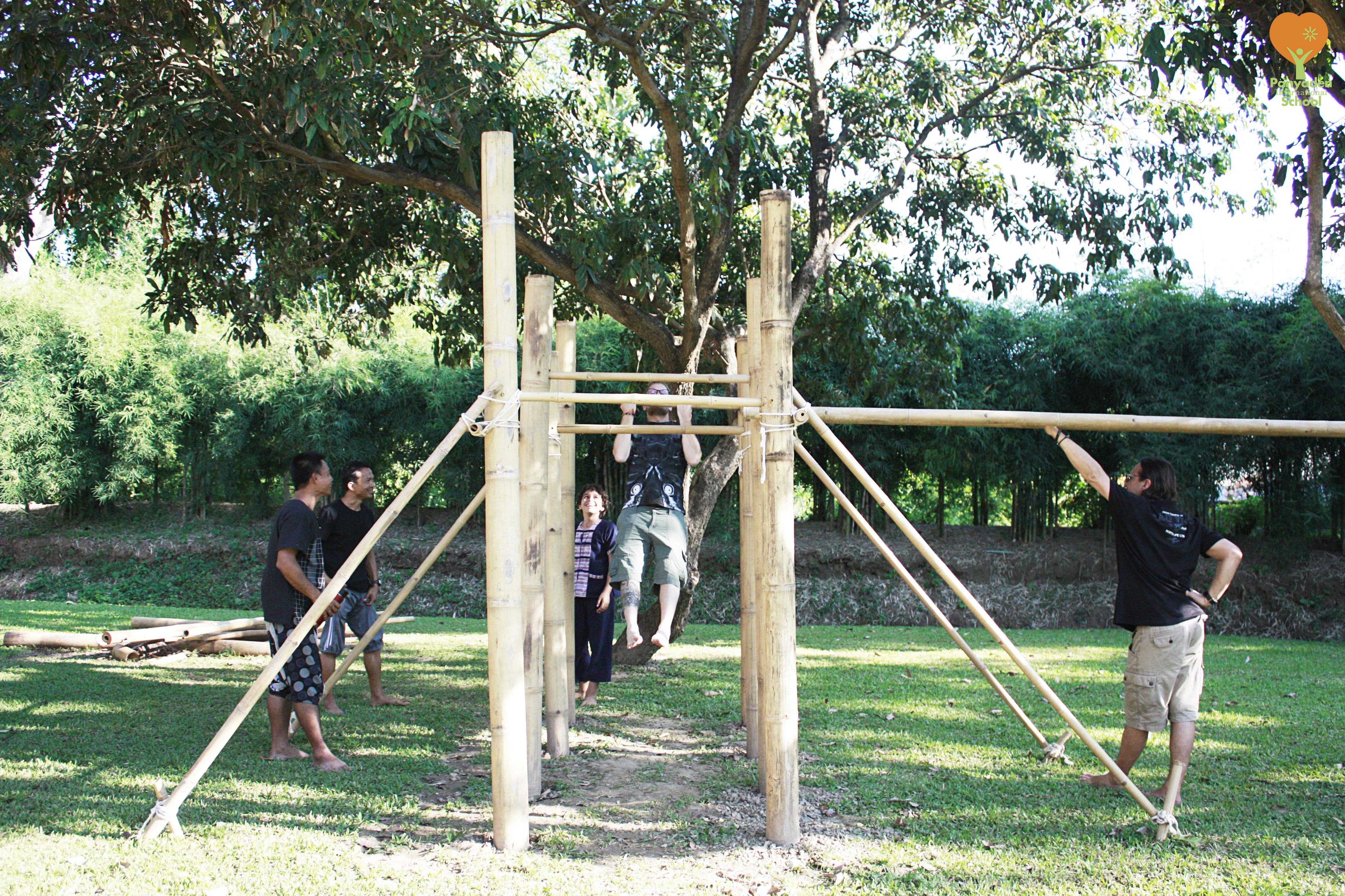 _mg_2606-logo Bamboo play structure made by Panyaden International School primary students
