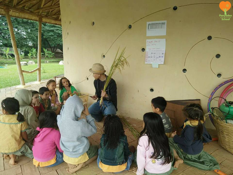 Year 1 Life Skills Class: Learning the life of farmers during harvesting, Panyaden International School
