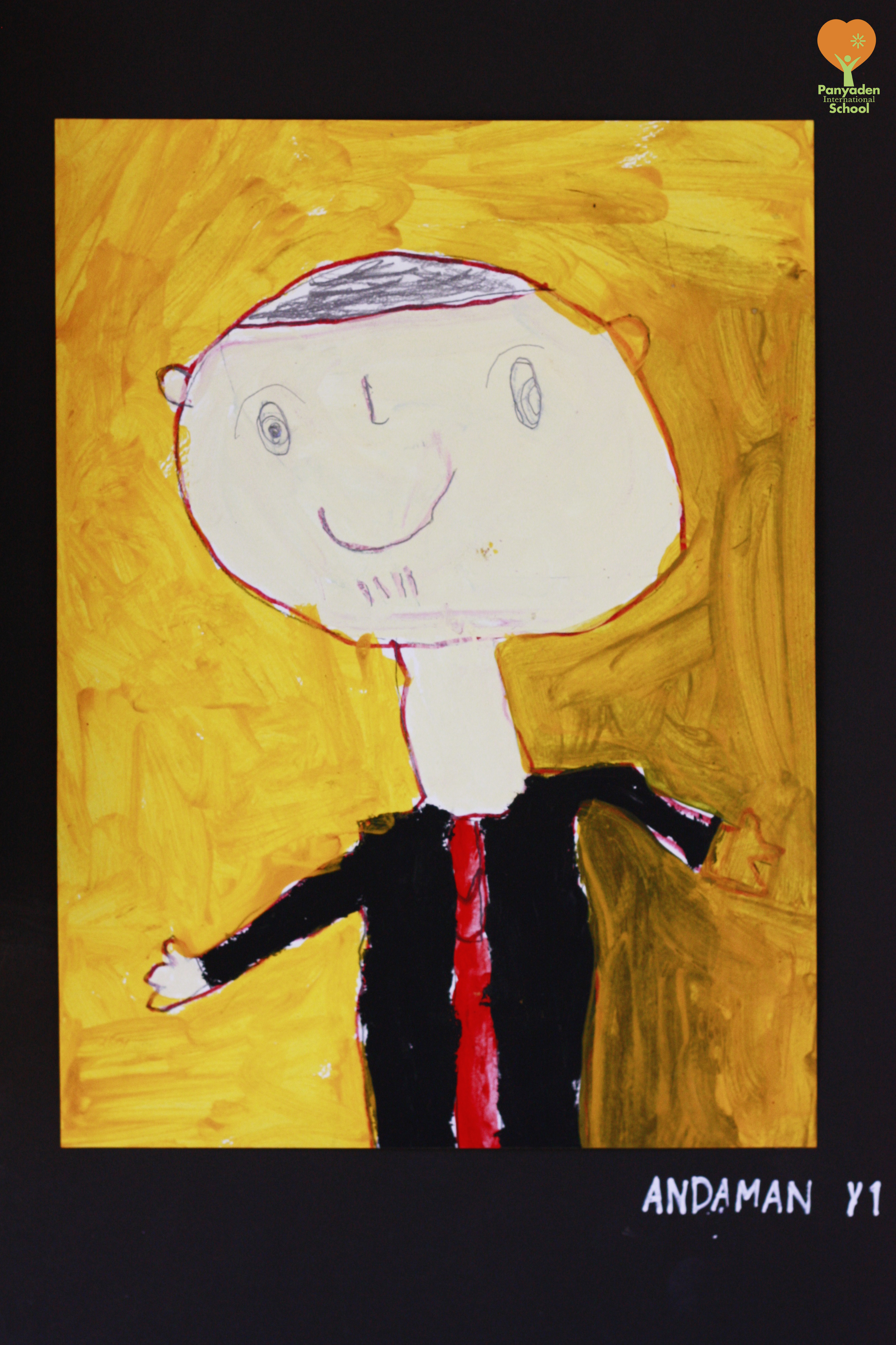 dads-drawing-andaman-y1 Portrait of his dad by Panyaden International School student, Andaman from Year 1