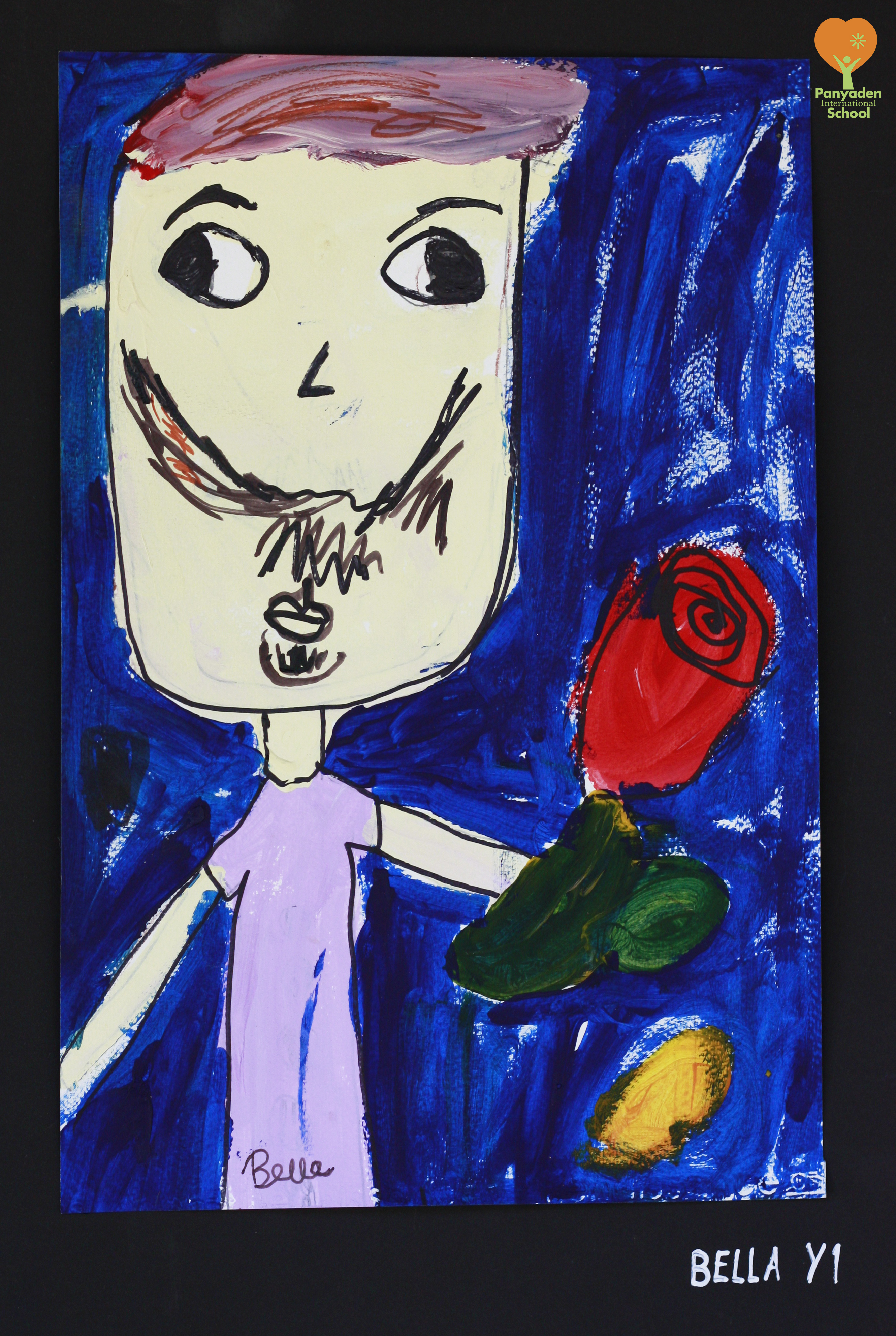 dads-drawing-bella-y1 Portrait of her dad by Panyaden International School student, Bella from year 1
