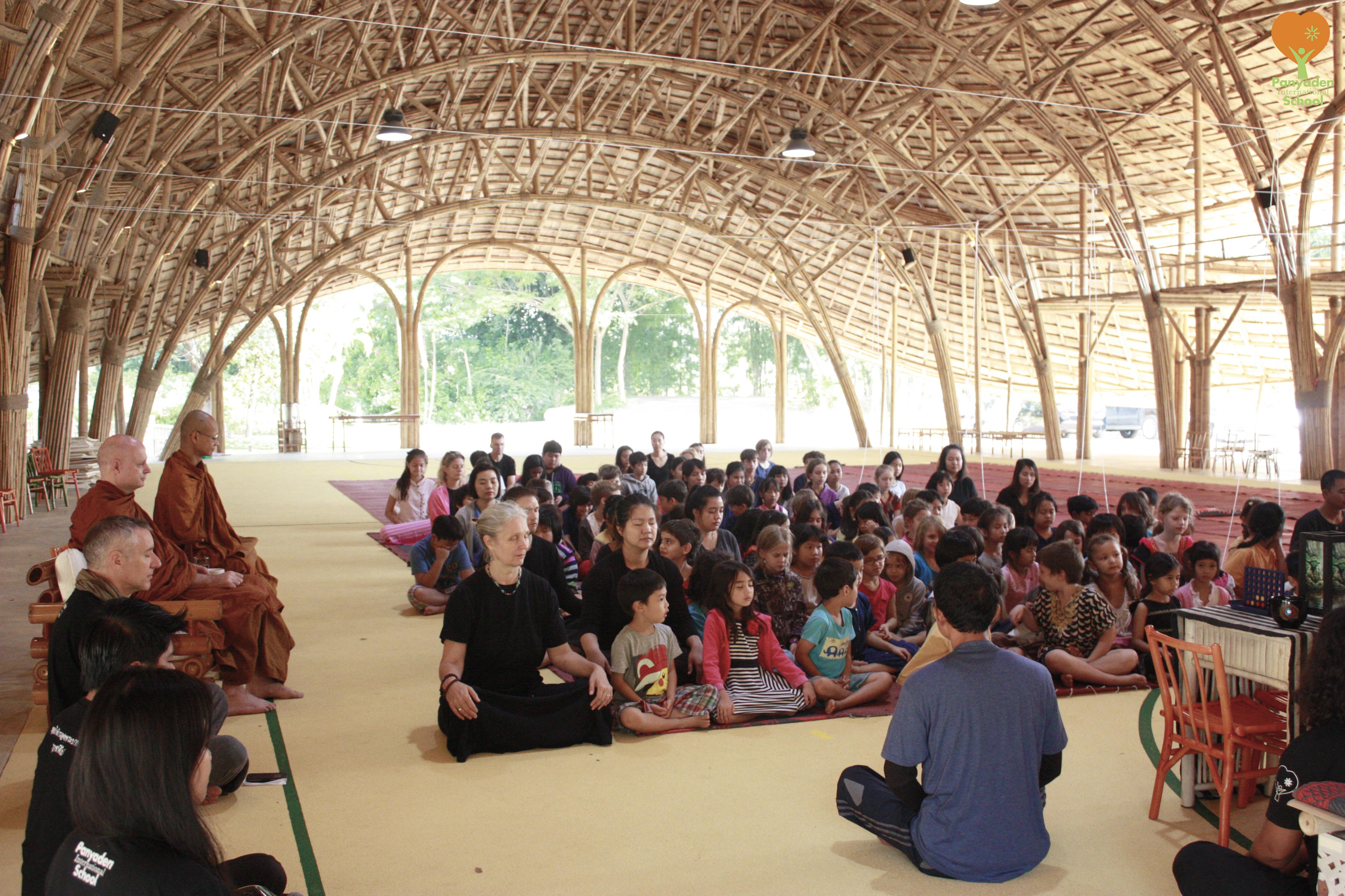 Ven. Ajahn Jayasaro and Ven. Ajahn Jiew observe Panyaden International School wise habit session