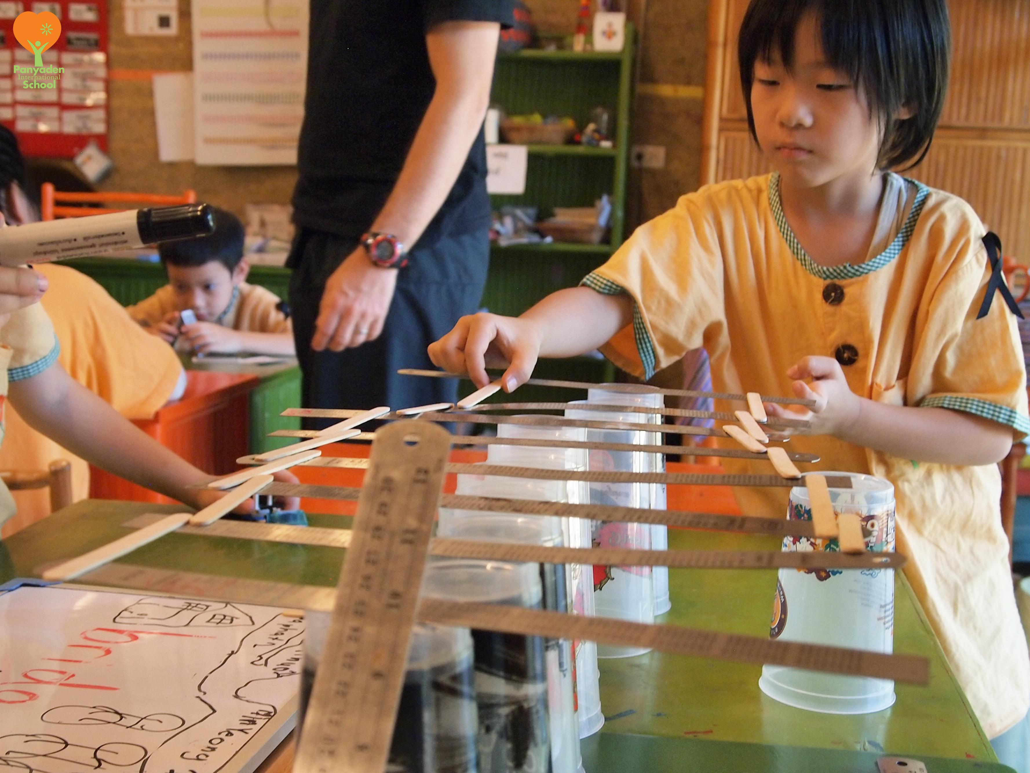 Panyaden International School primary student in classroom