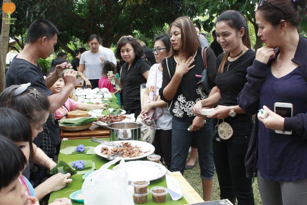 Parents at Panyaden Giving Week Flea Market in aid of charity