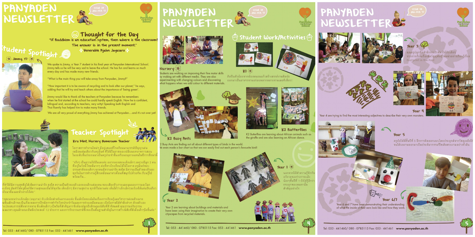 Panyaden newsletter issue 28 collage