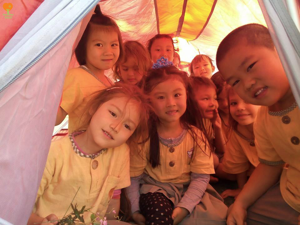 Panyaden K2 camping outdoors at school