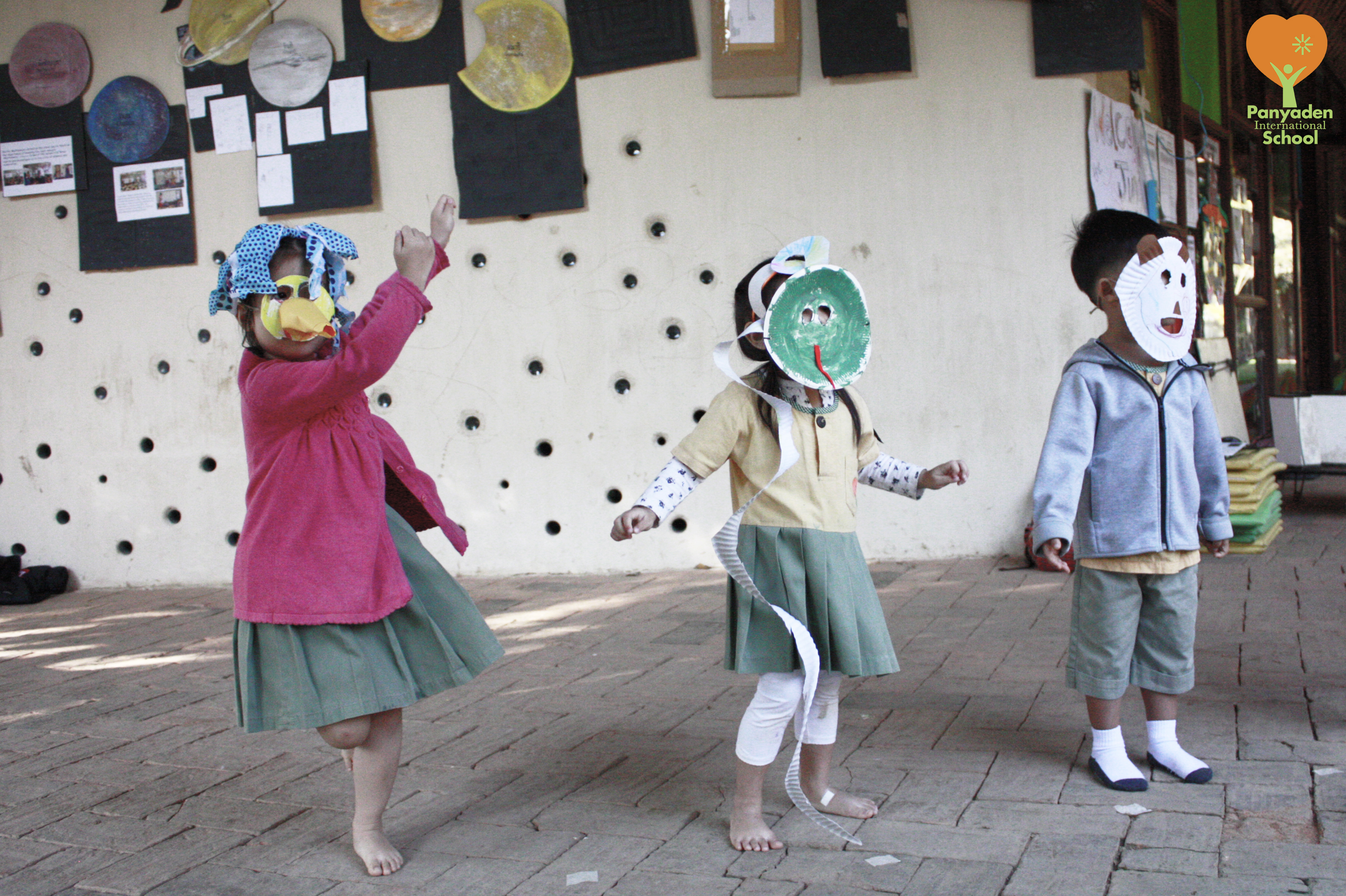 ANimal mask dance by Panyaden International School pre-schoolers
