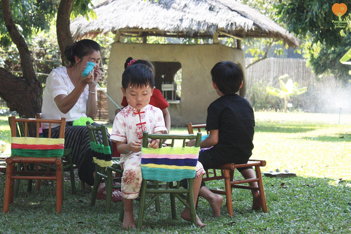 Panyaden International School Kindergarten 2 weaving