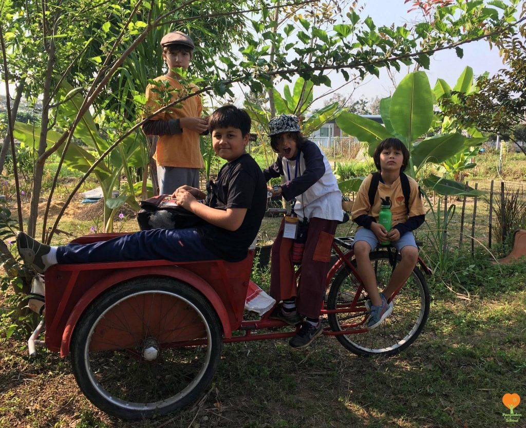 Fun ride! Panyaden International School student field trip to a rice mill in Chiang Mai