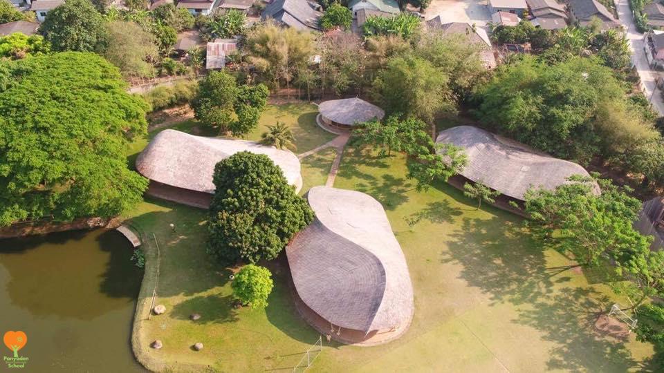 Aerial shot of Panyaden International School campus 2