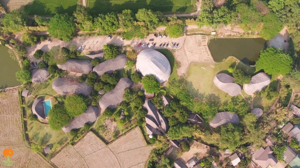 Aerial shot of Panyaden International School campus