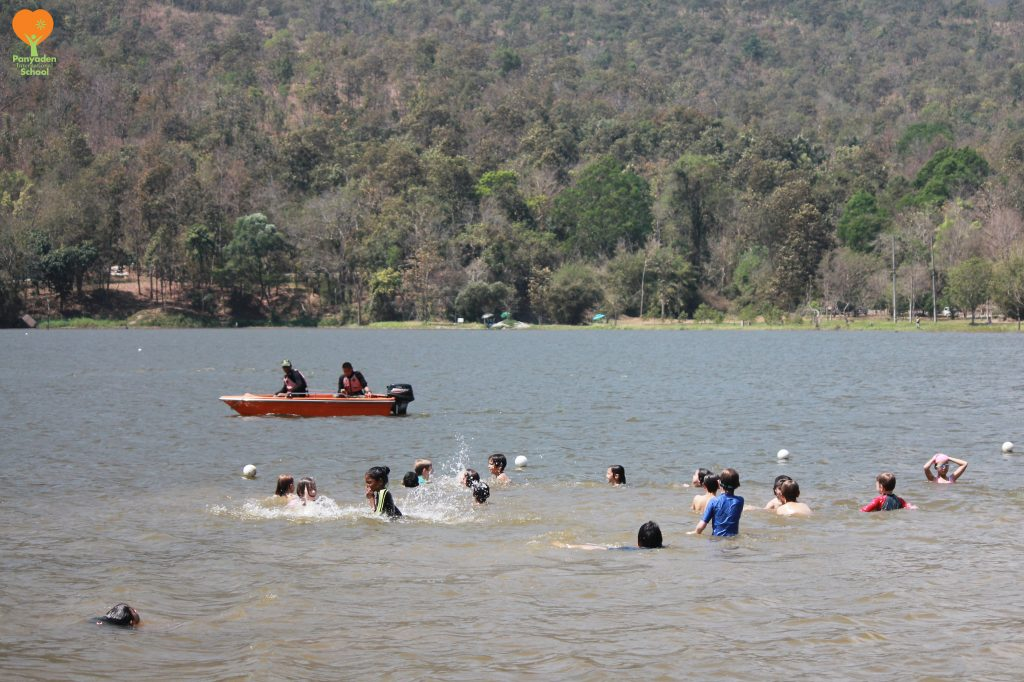 Panyaden students enjoy a dip at Huay Tung Tao lake Chiang Mai