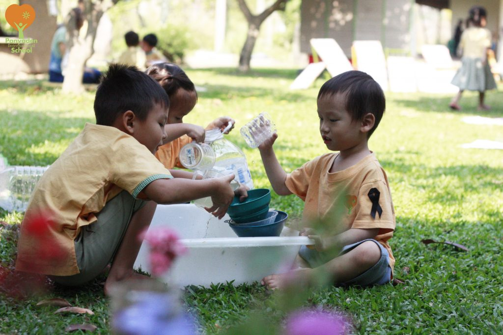 Preschoolers outdoors, Panyaden Festival of Learning