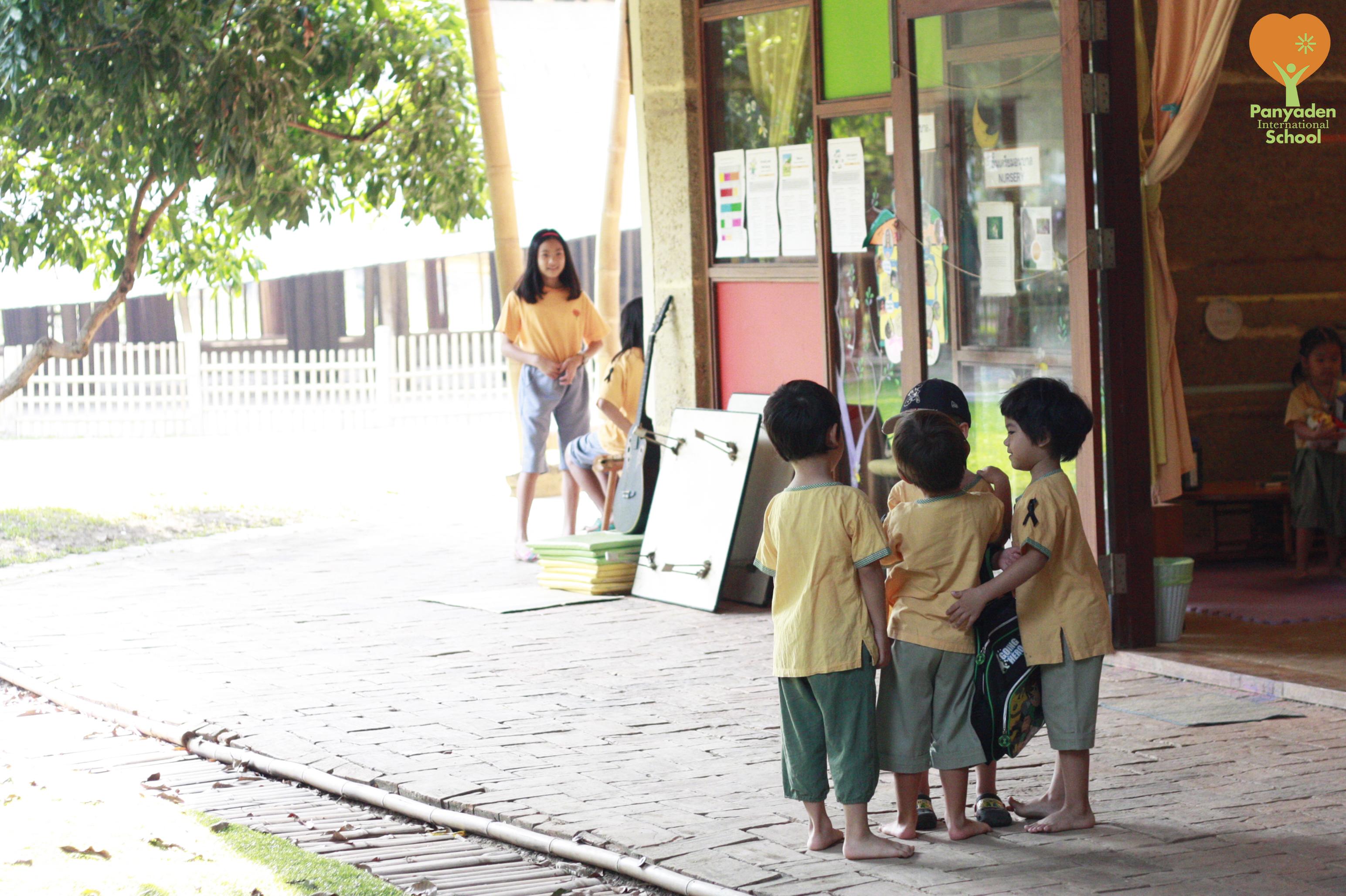 A hug for our classmates. Back at Panyaden.