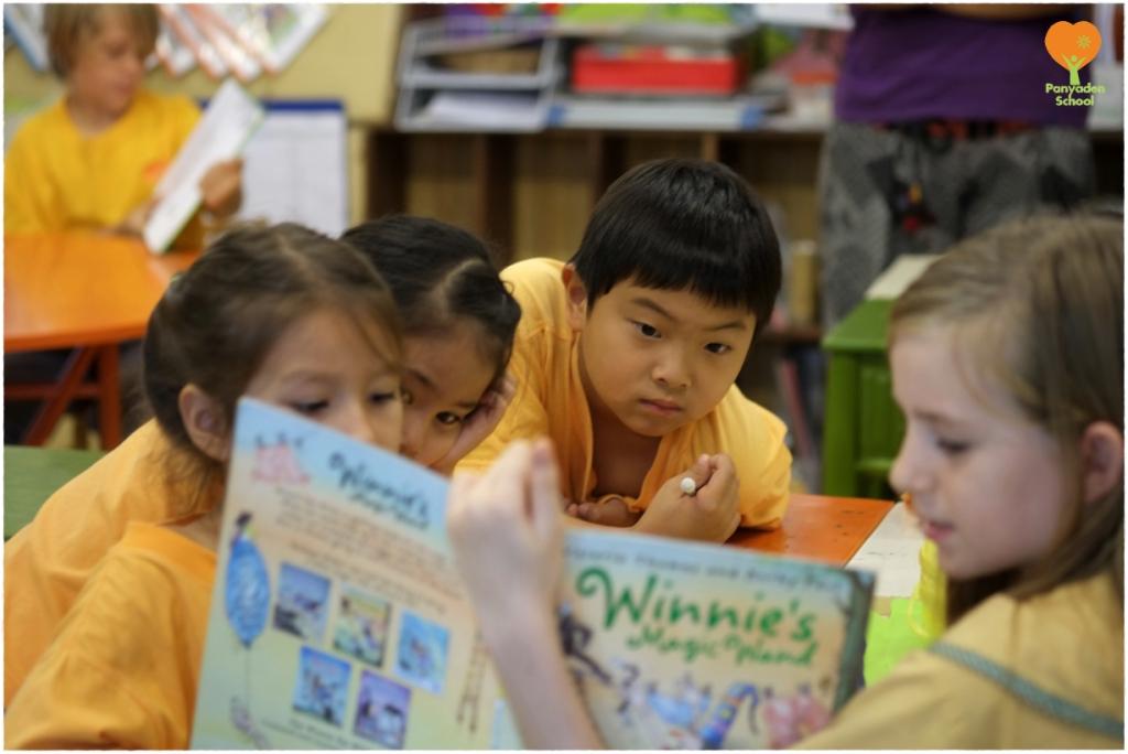 Panyaden students enjoy reading at school