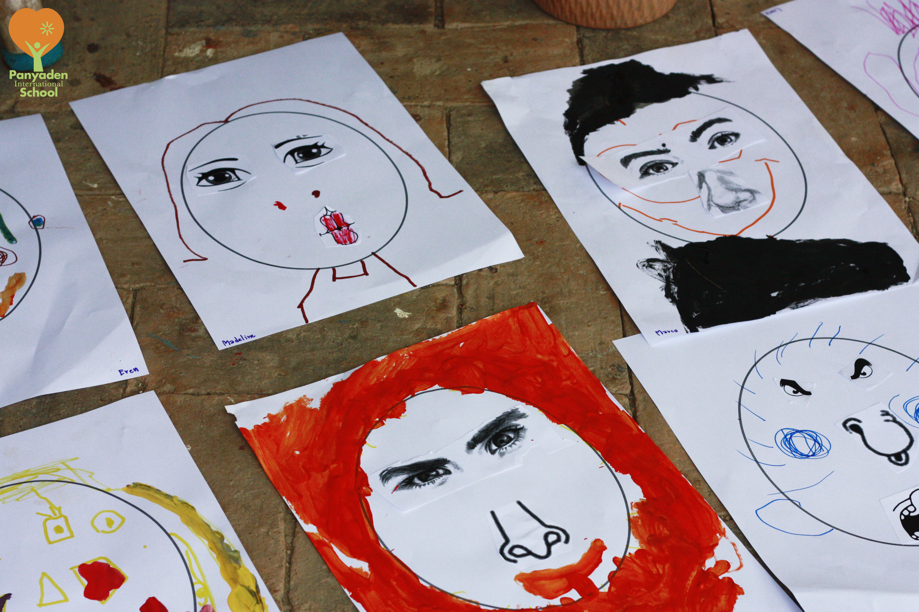 Panyaden Kindergarten K1Arts: facial expressions and emotions drawings