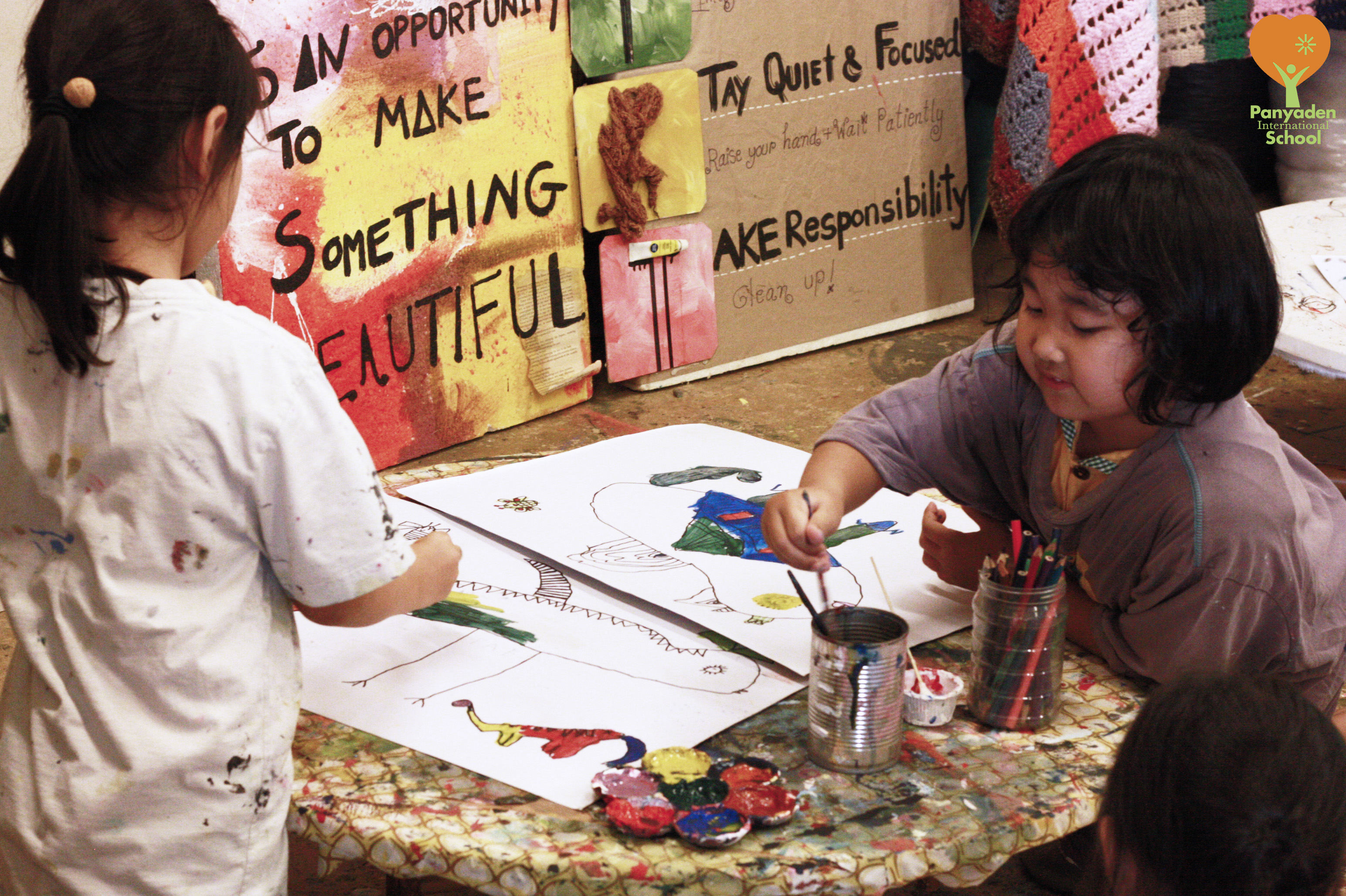 Panyaden students enjoy art during Exhibition Unit class