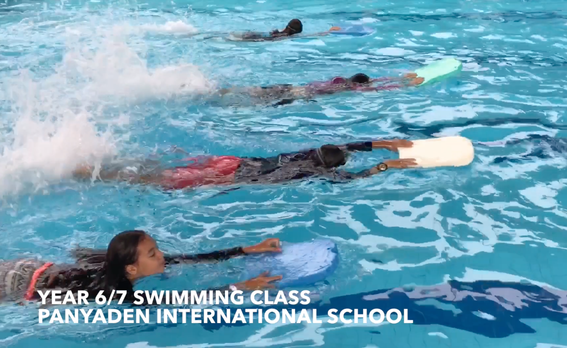 A School of fish. Panyaden Year 6/7 students swimming class
