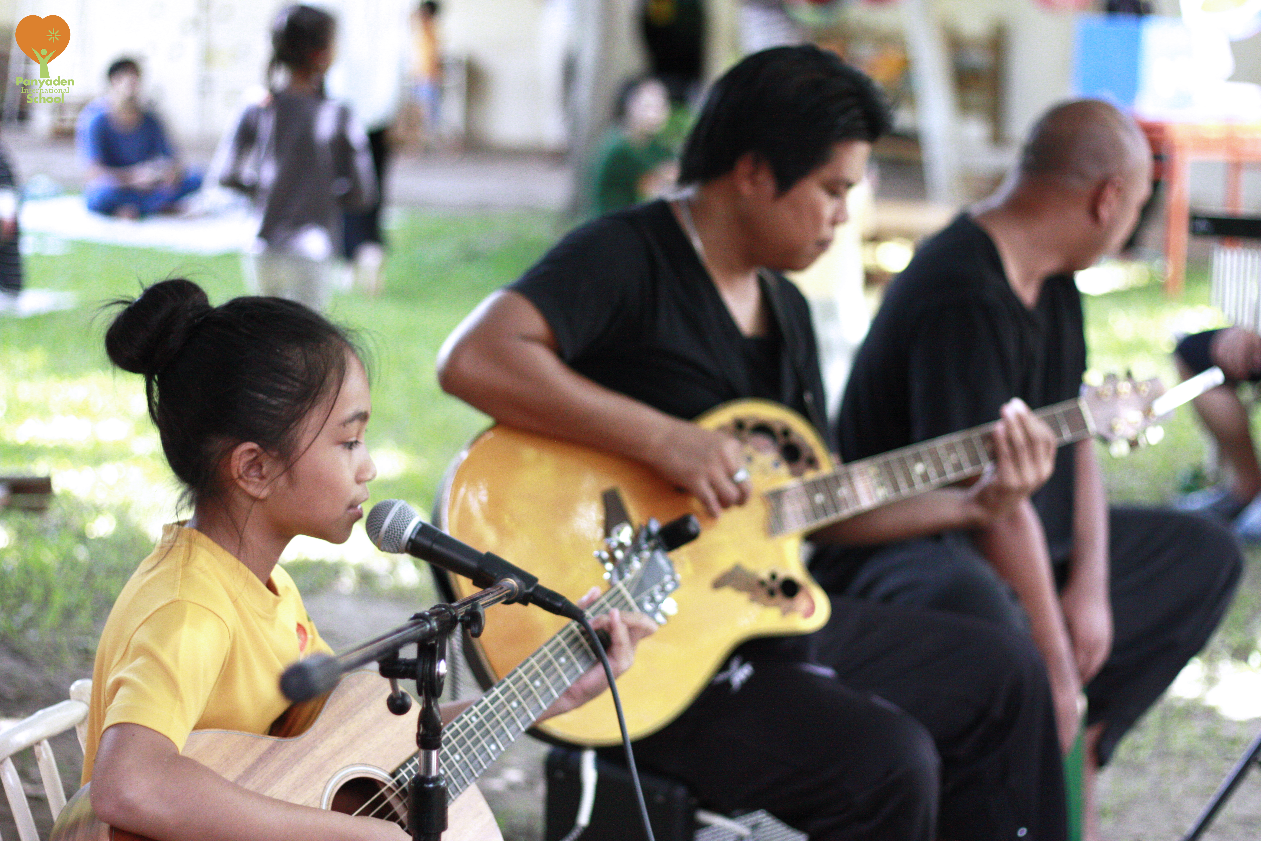 Panyaden band entertaining guests to music during Blossom Market