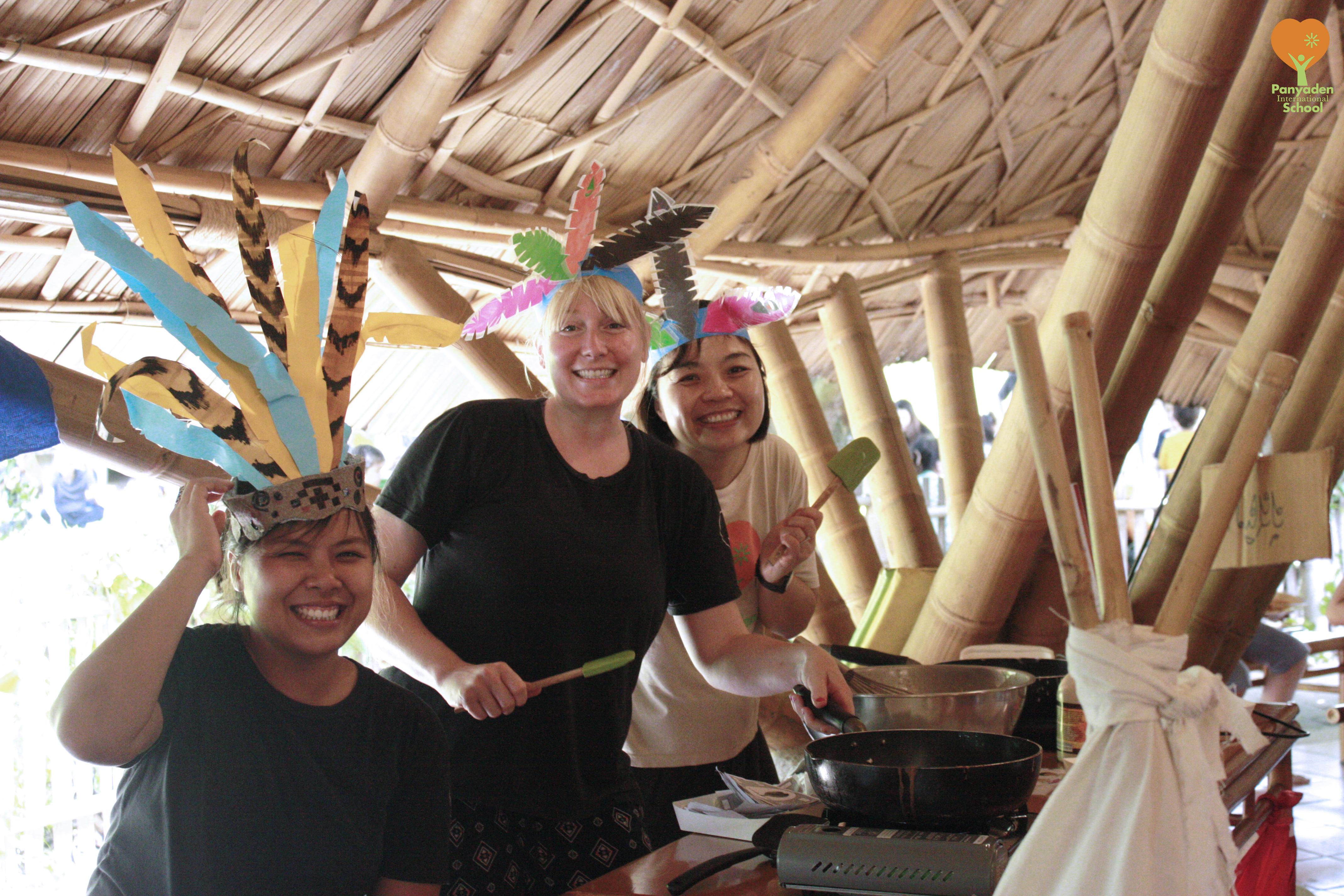 Panyaden teachers at school's Blossom Day Market