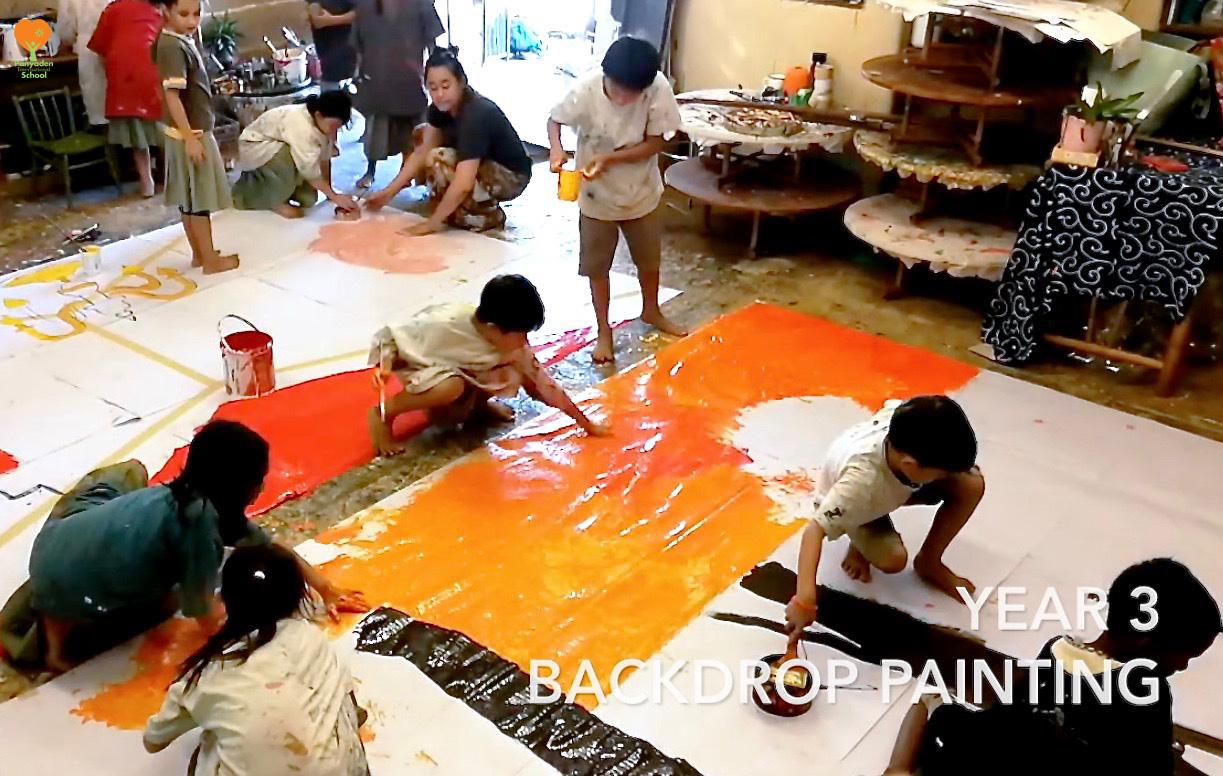 Panyaden Year 3 preparing for Blossom Day