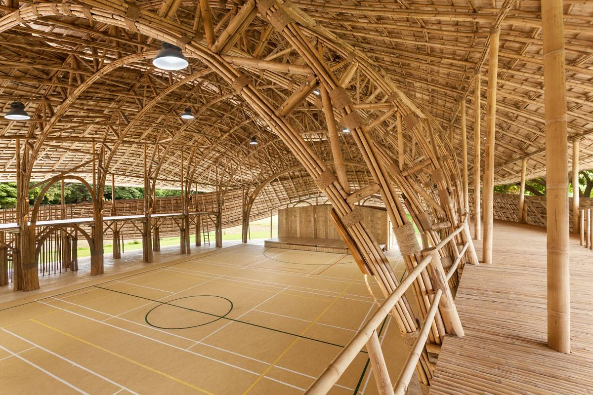 Amazing arches, Panyaden International School assembly/indoor sports hall in Chiang Mai