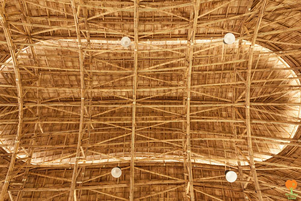 Panyaden International School's bamboo Sports Hall