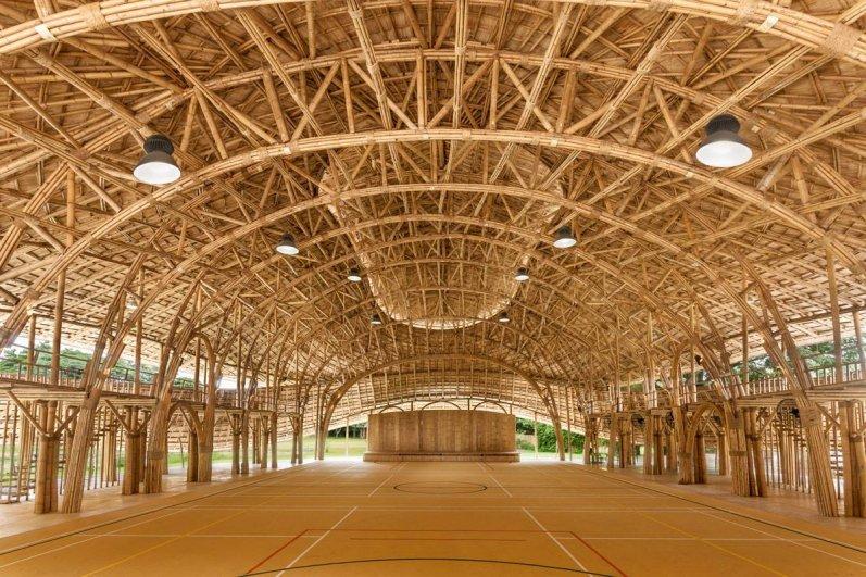 Panyaden's bamboo indoor sports hall