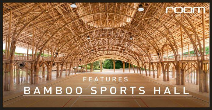 Panyaden bamboo sports hall, cover photo on room magazine, Thailand