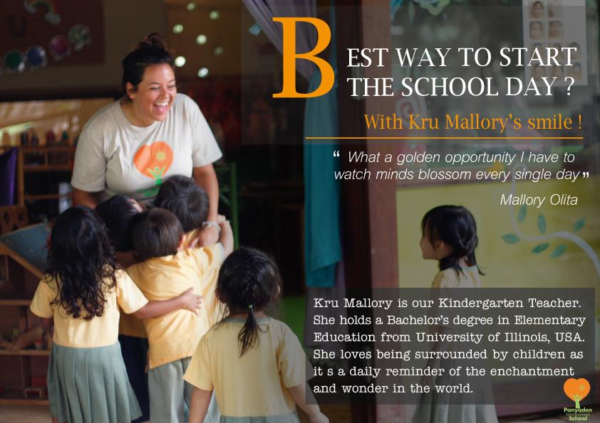 Panyaden Teacher Feature 1 - Kru Mallory, Kindergarten Teacher