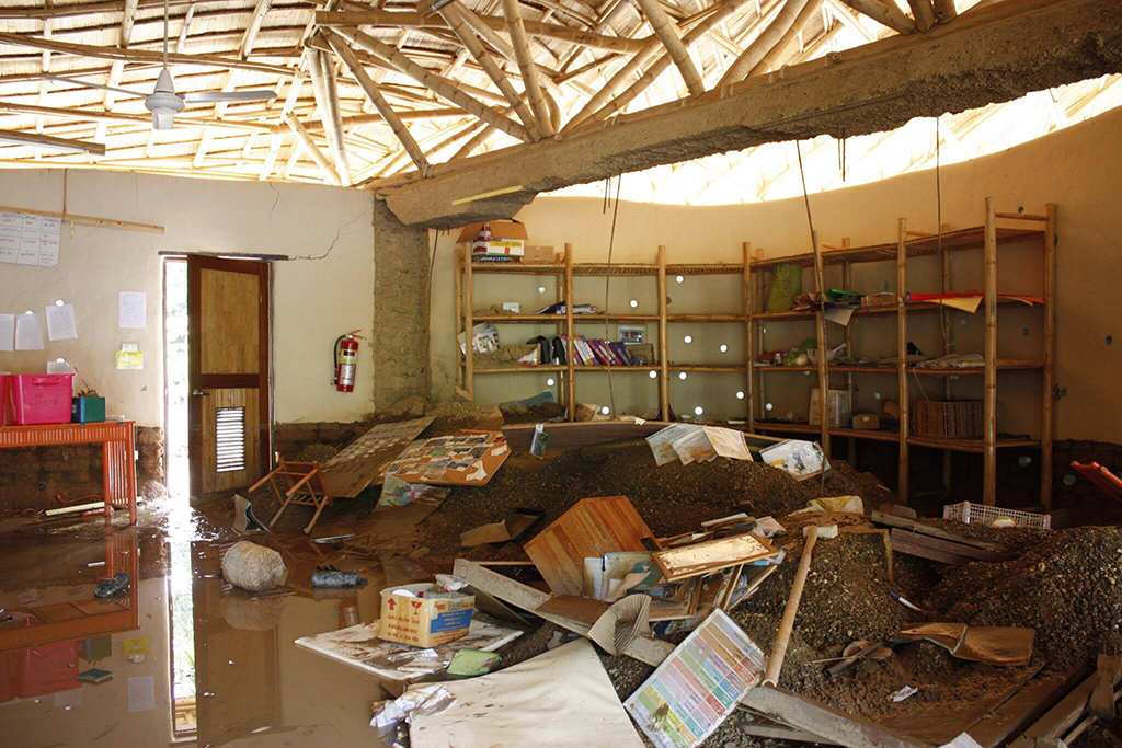 Devastation of classroom, Panyaden flood
