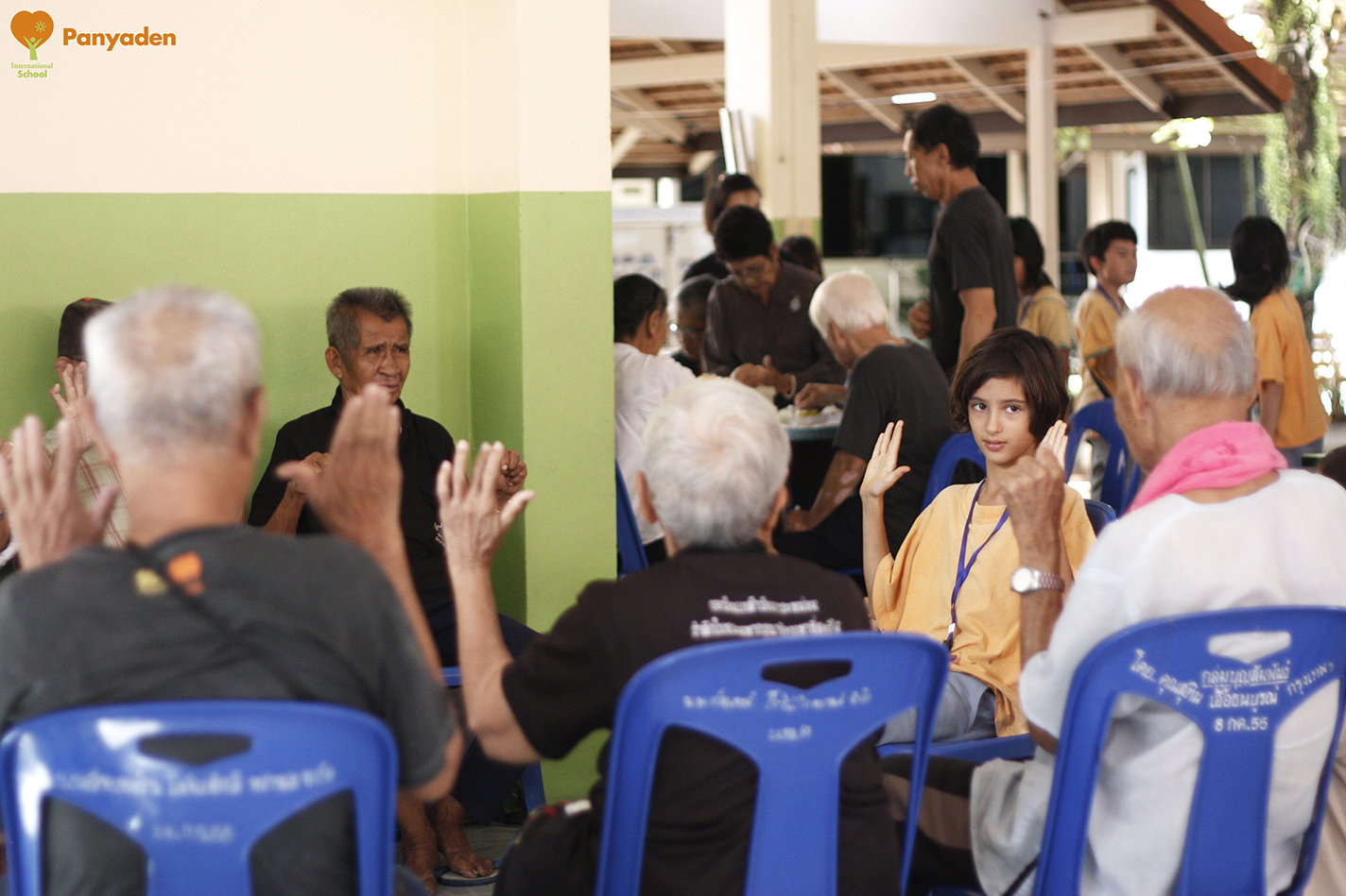 Time for games! Panyaden Social Contribution Day at elder aId home in Chiang Mai