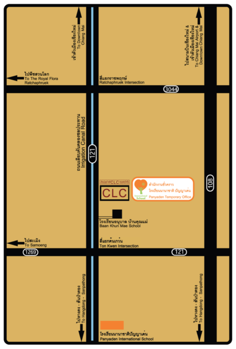 Map of Panyaden Temporary Office at CLC Map