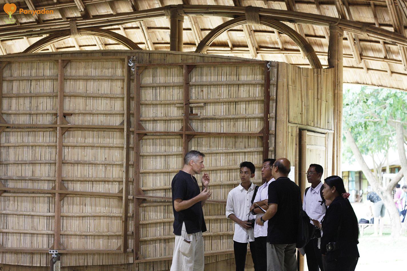 UNESCO Myanmar officials with Panyaden School Director Neil Ams