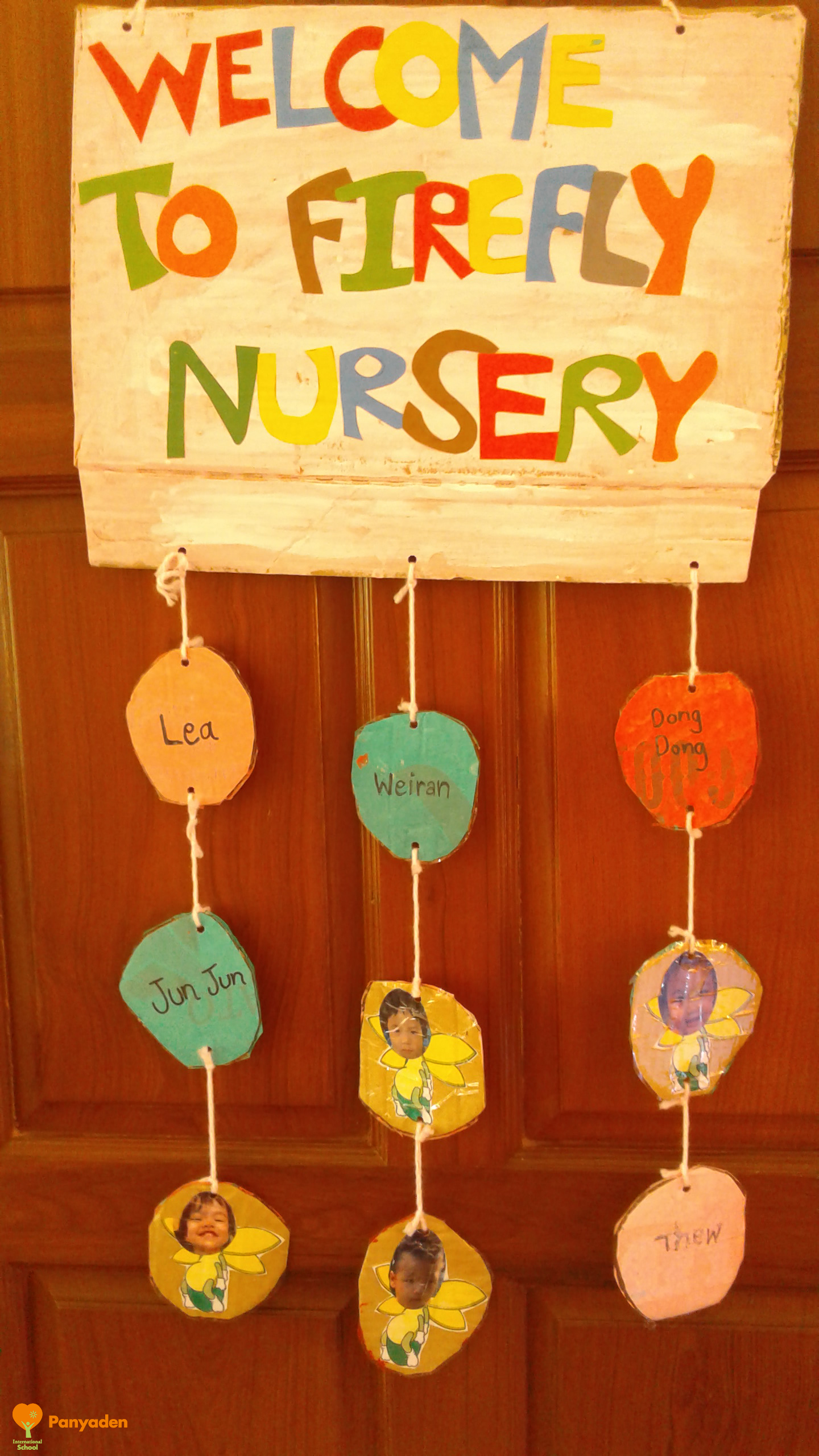 Panyaden temporary site: Nursery welcome sign