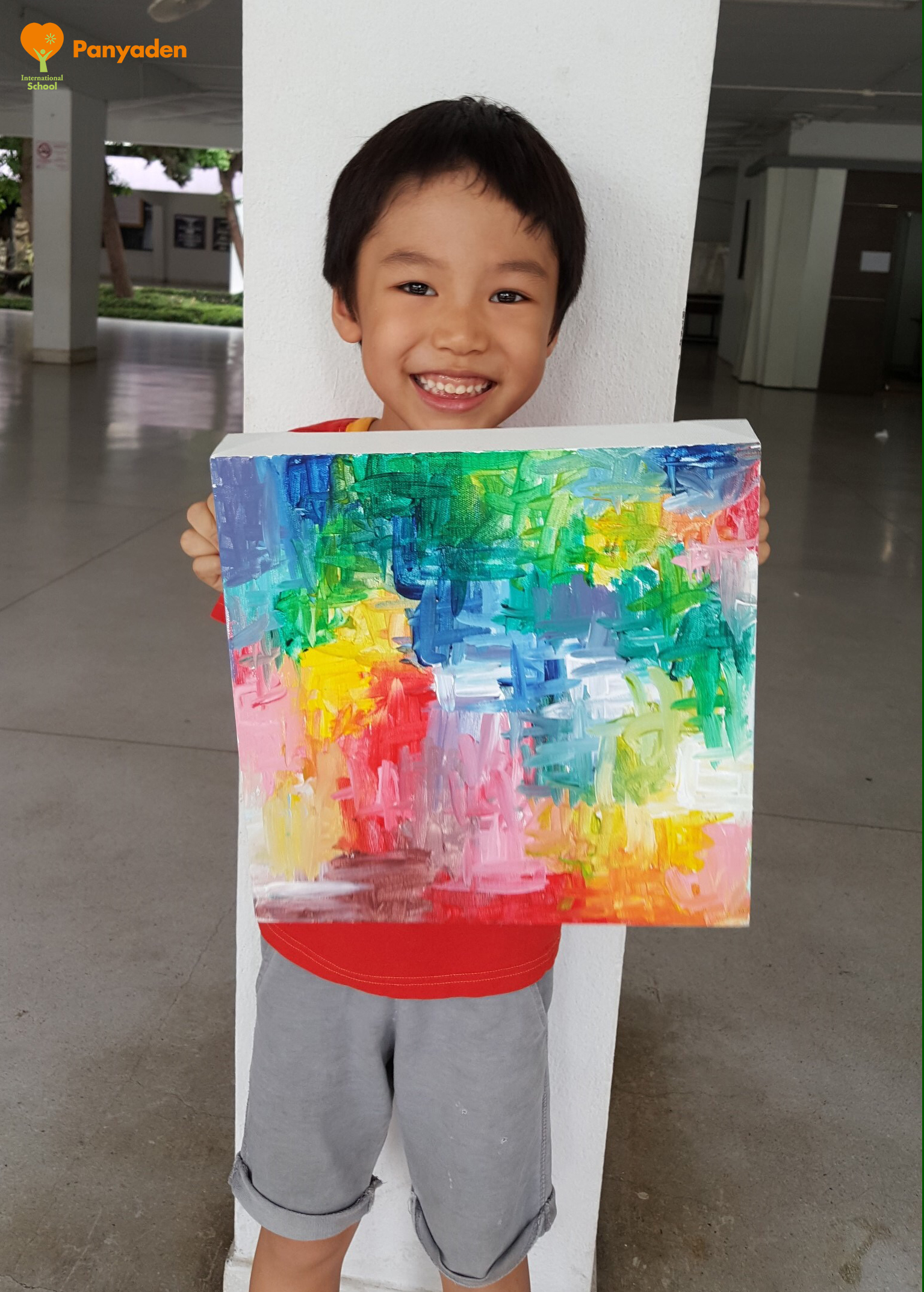 Nong Puri's finished painting for his art auction to raise funds for Panyaden's rebuilding effort