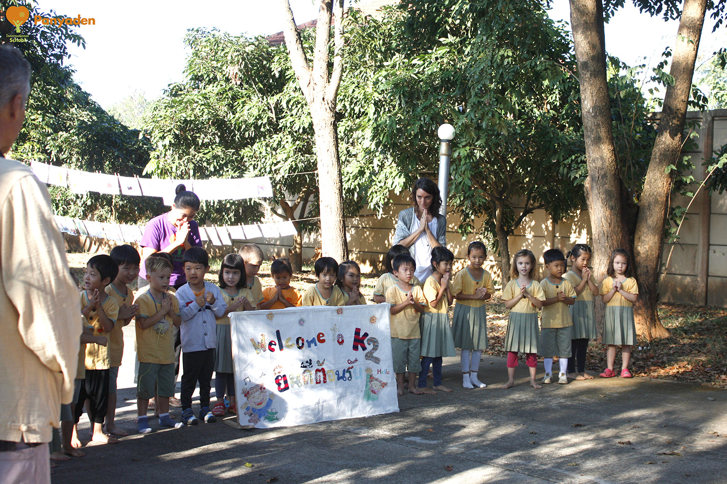 Kindergarten 2 welcome banner - Panyaden Budding Day 1