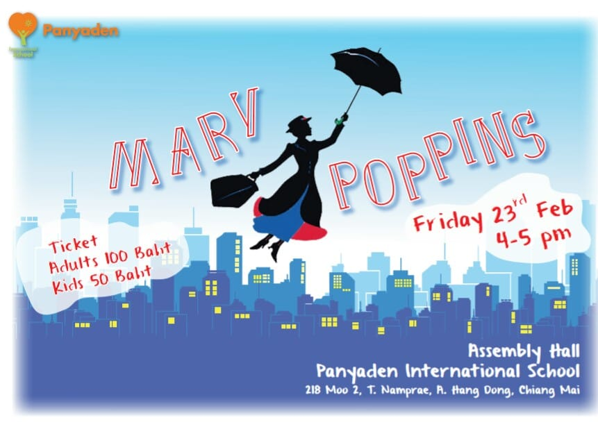 Panyaden Youth Theatre presents Mary Poppins the Musical Theatre poster