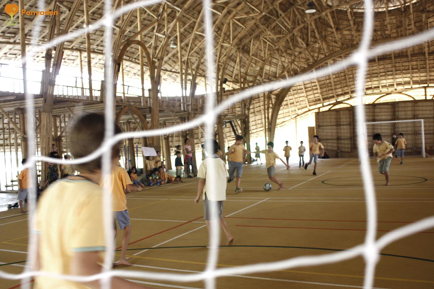 Indoor sports preparation. Students prepare for Panyaden Sports Day 2018.