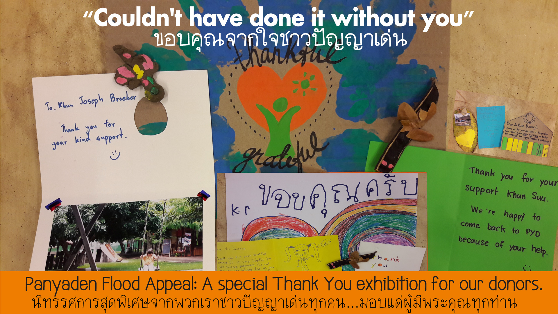 Panyaden Flood Appeal thank you exhibition