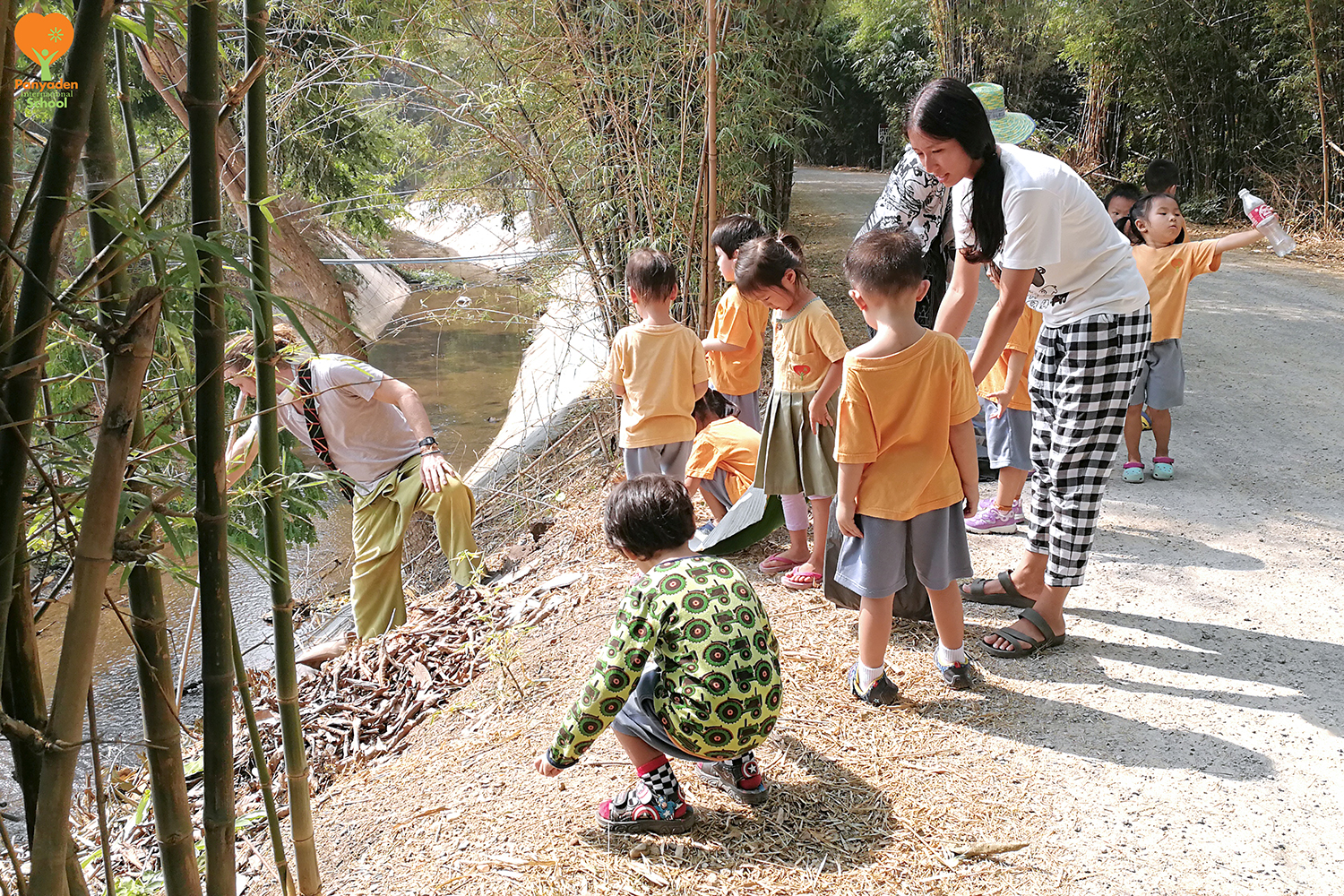Panyaden KIndergarten marks Earth Day by clearing litter at school