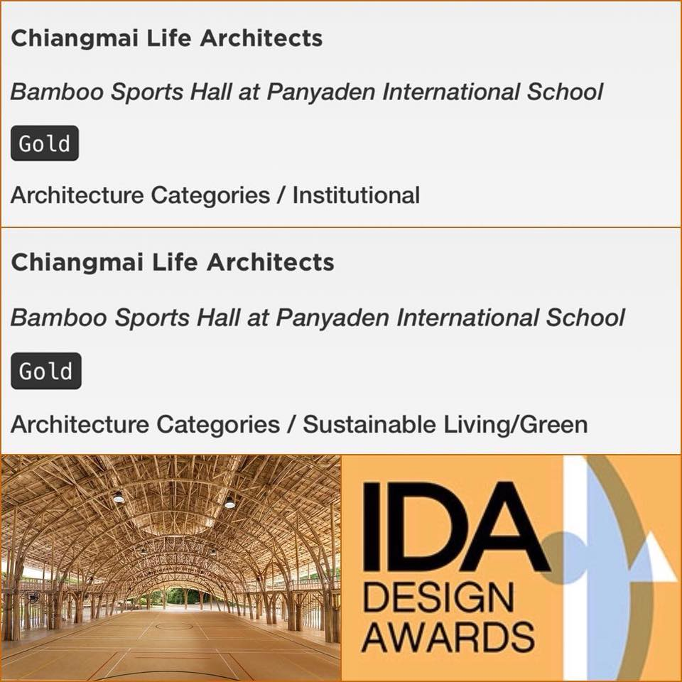 Panyaden Sports Hall wins gold award from International Design Awards