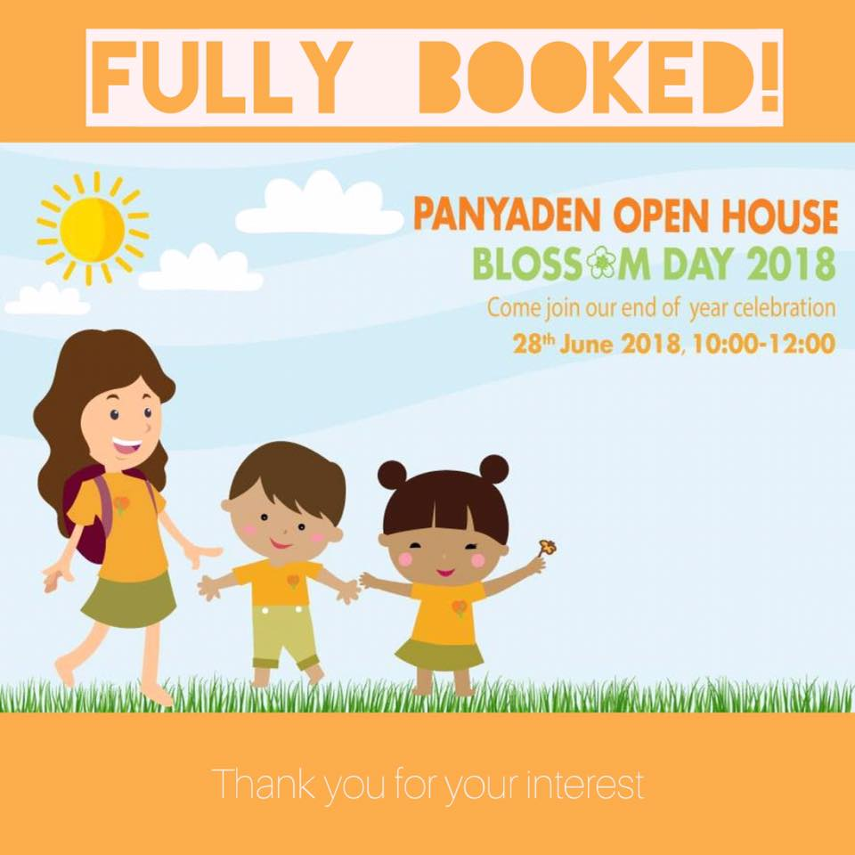 Panyaden Open House BlossomDay poster fully booked