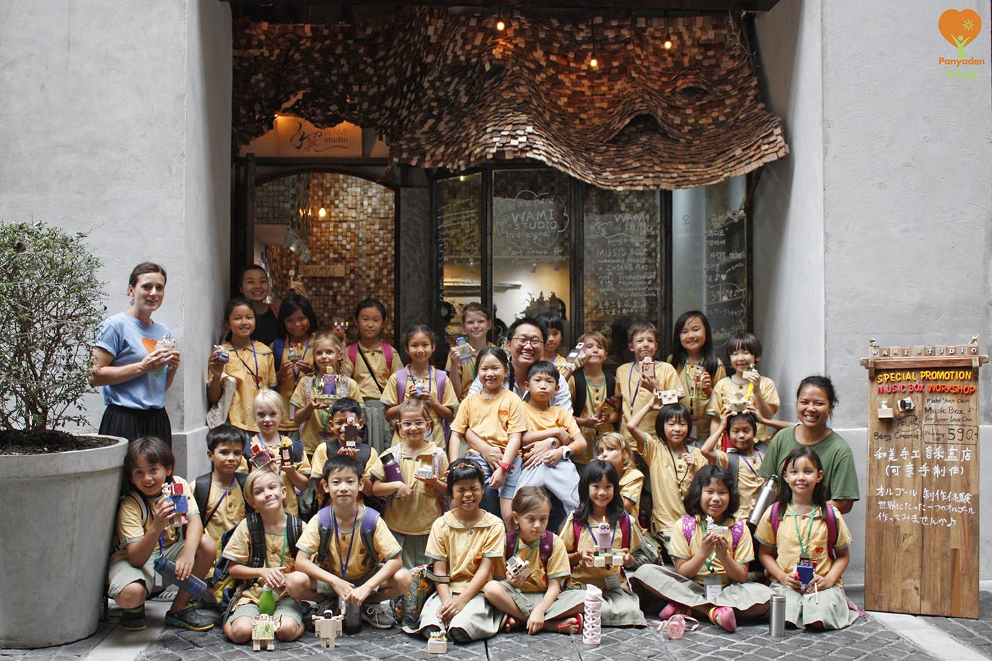 Panyaden Year 3 students at Wami Music Box Studio