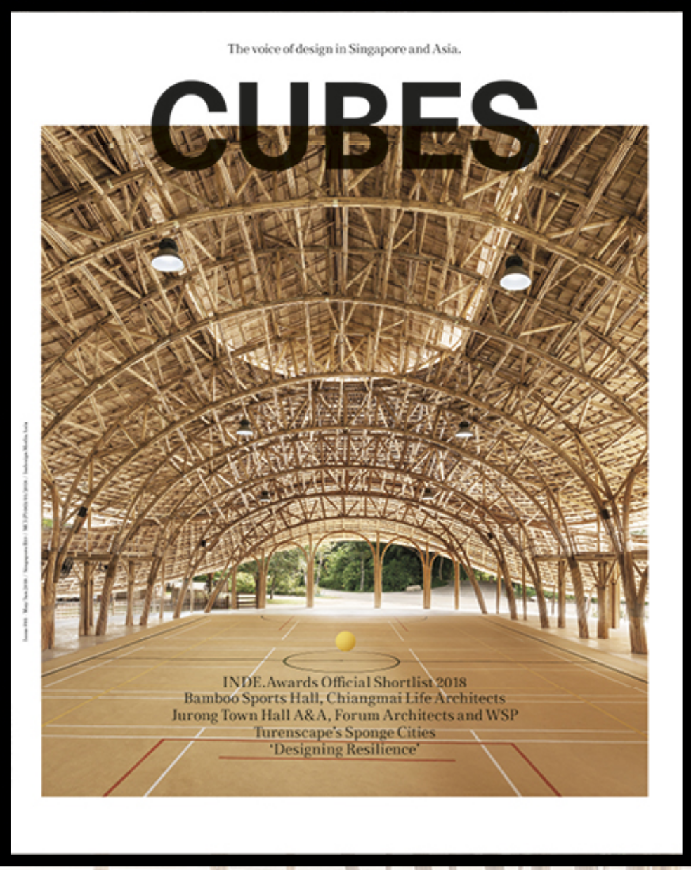 Panyaden bamboo Sports Hall on the cover of CUBES magzine issue 91