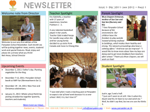 Panyaden School Newsletter - Issue 1 Dec 2011 - Jan 2012