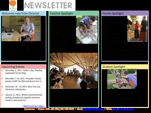 Panyaden School Newsletter - Issue 1 Dec 2011 - Jan 2012