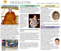 Panyaden School Newsletter - Issue 5 August - September 2012