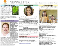 Panyaden School Newsletter - Issue 6 October - November 2012