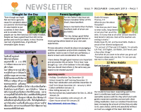 Panyaden School Newsletter - Issue 7 December 2012 - January 2013