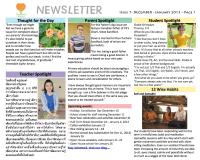 Panyaden School Newsletter - Issue 7 December 2012 - January 2013